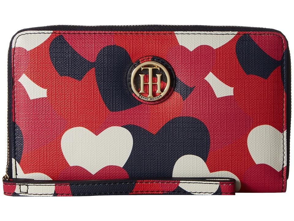 Tommy Hilfiger - Tommy Heart Wristlet (Bright Rose/Multi) Wristlet Handbags