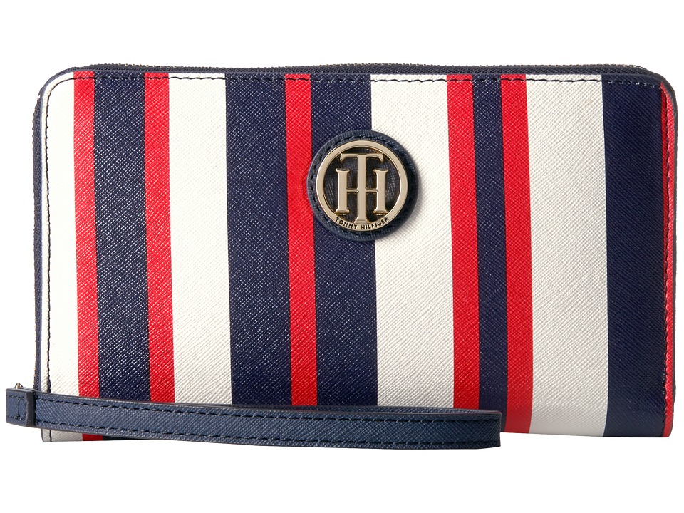 Tommy Hilfiger - Tommy Painted Stripe Wristlet (Navy/Multi) Wristlet Handbags