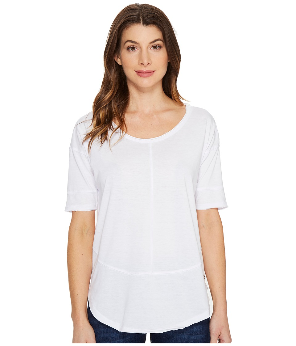 Jag Jeans - Cafe Tee in Burnout Jersey (White) Women's T Shirt