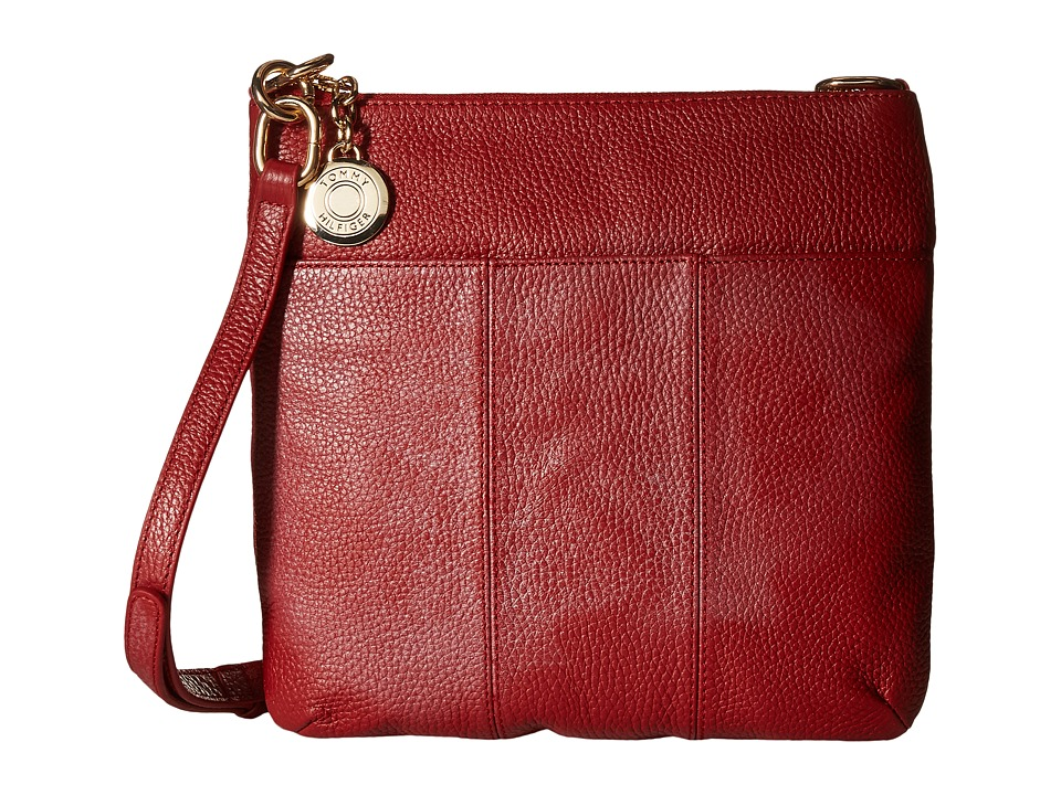 Tommy Hilfiger - Tommy Signature Pebble Crossbody (Bright Rose) Cross Body Handbags