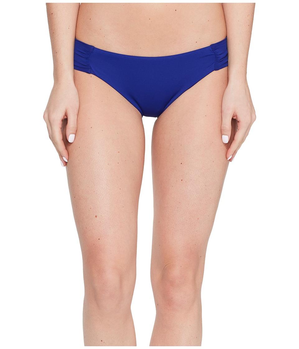 Trina Turk - Gypsy Solids Shirred Hipster Bottoms (Indigo) Women's Swimwear