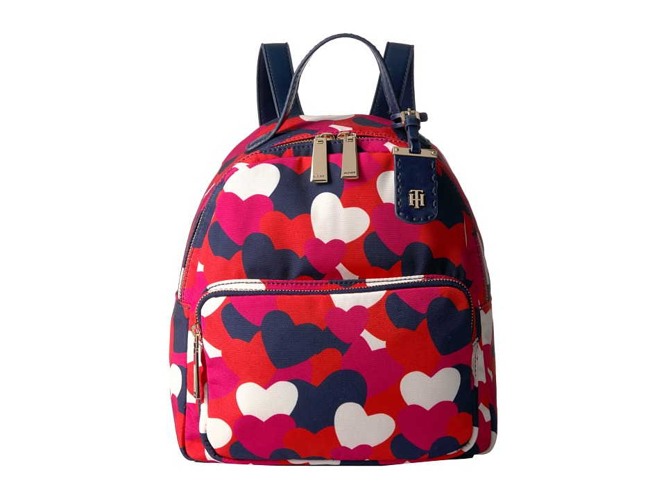 Tommy Hilfiger - Julia Heart Backpack (Bright Rose/Multi) Backpack Bags