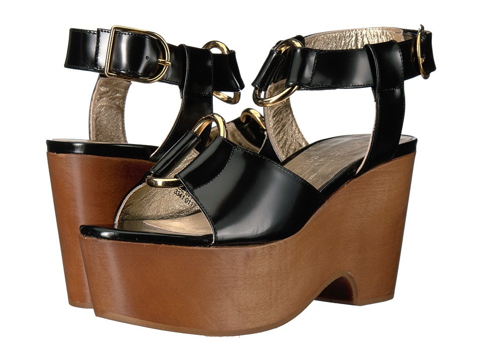 Anne Klein - Janice (Black Leather) Women's Shoes