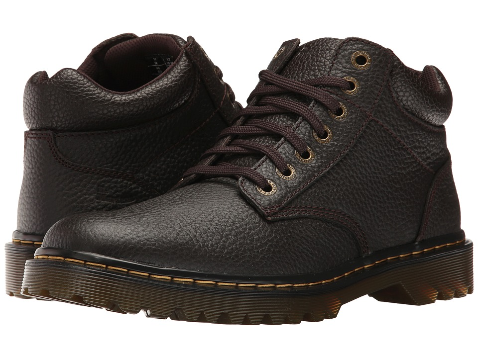 Dr. Martens - Harrisfield (Dark Brown Grainy Full Grain) Men's Boots