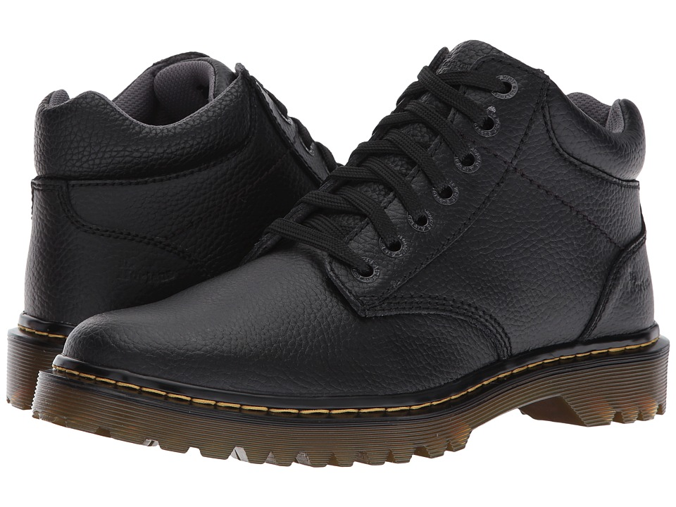 Dr. Martens - Harrisfield (Black Action Grainy) Men's Boots