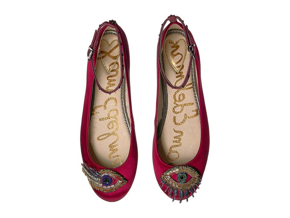 Sam Edelman Ferrera 3 Cranberry Satin Shoes