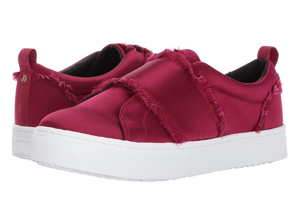 Sam Edelman Levine Cranberry Shiny Silk Satin Shoes