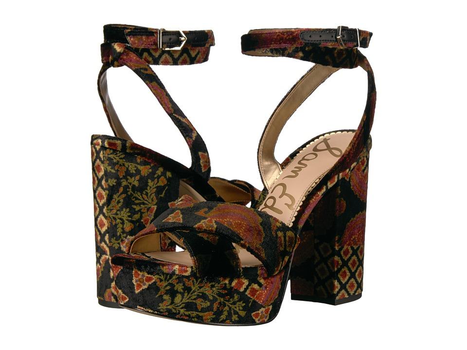 Sam Edelman Mara (Black Multi Foulard Patchwork Velvet) Women