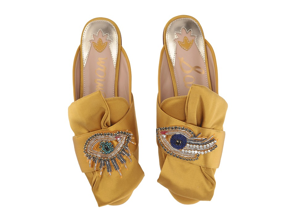 Sam Edelman Peters 2 Tuscan Yellow Satin Lux Fabric-Eye Patch Shoes