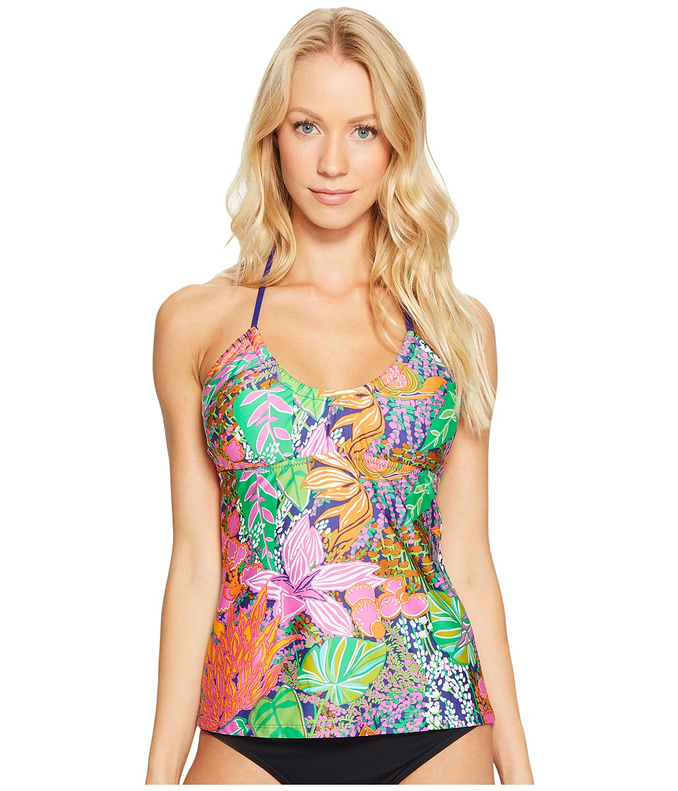 Trina Turk - Tropic Escape Tankini (Multi) Women's Swimwear