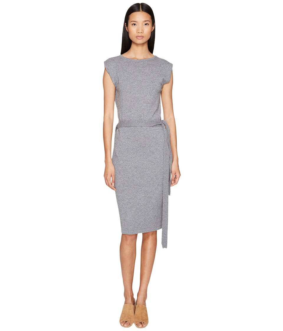Cashmere In Love - Colette Wrapped Envelope Dress (Spring Grey) Women's Dress