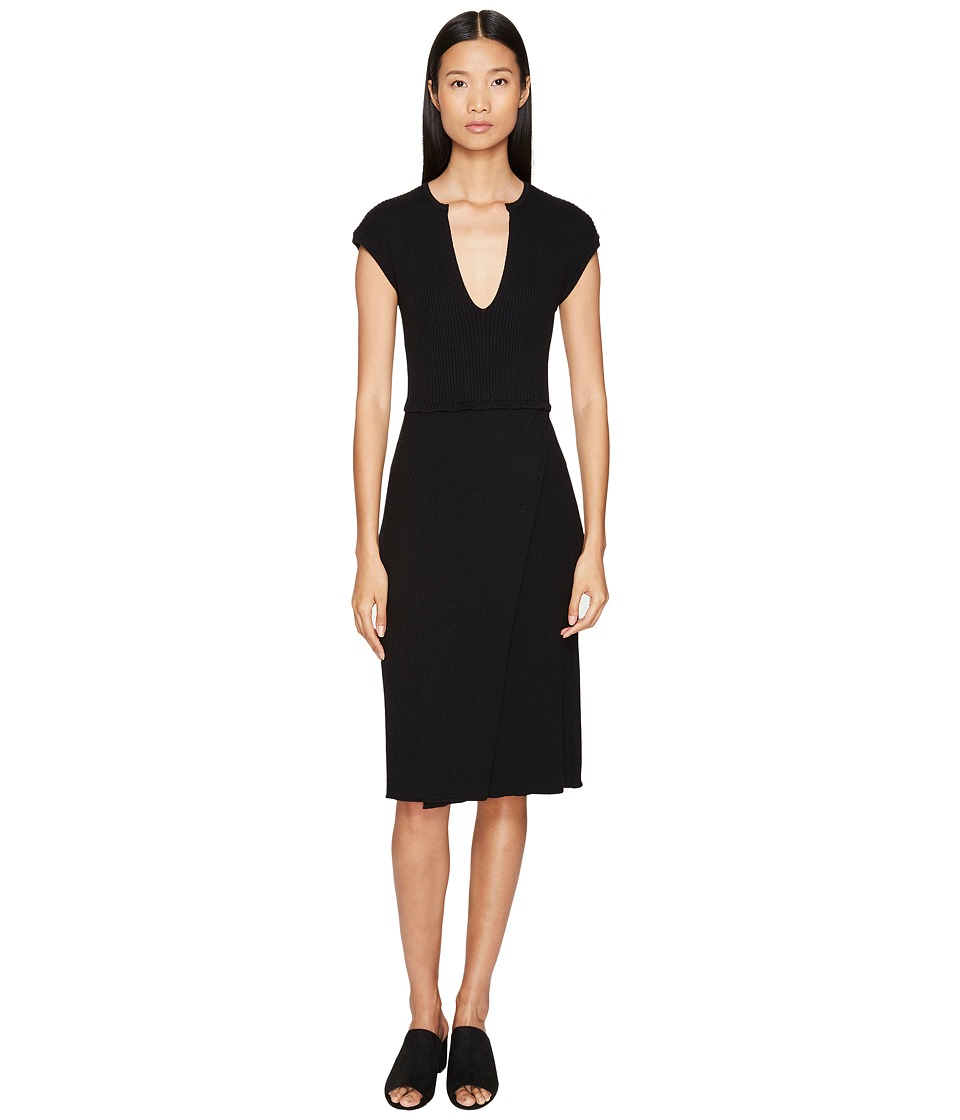 Cashmere In Love - Camilla Ribbed Dress (Black) Women's Dress