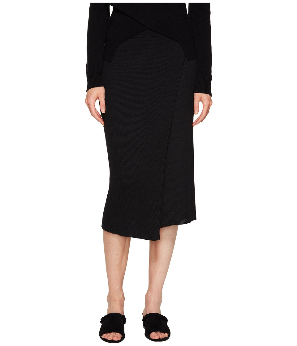 Cashmere In Love - Capri Ribbed Knit Skirt (Black) Women's Skirt