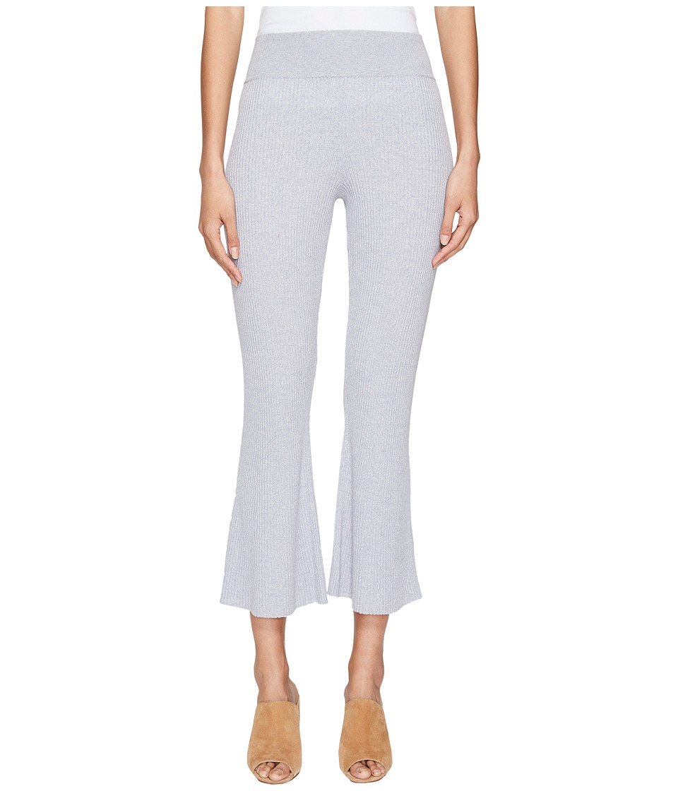 Cashmere In Love - Candiss Ribbed Knit Pants (Light Grey) Women's Clothing