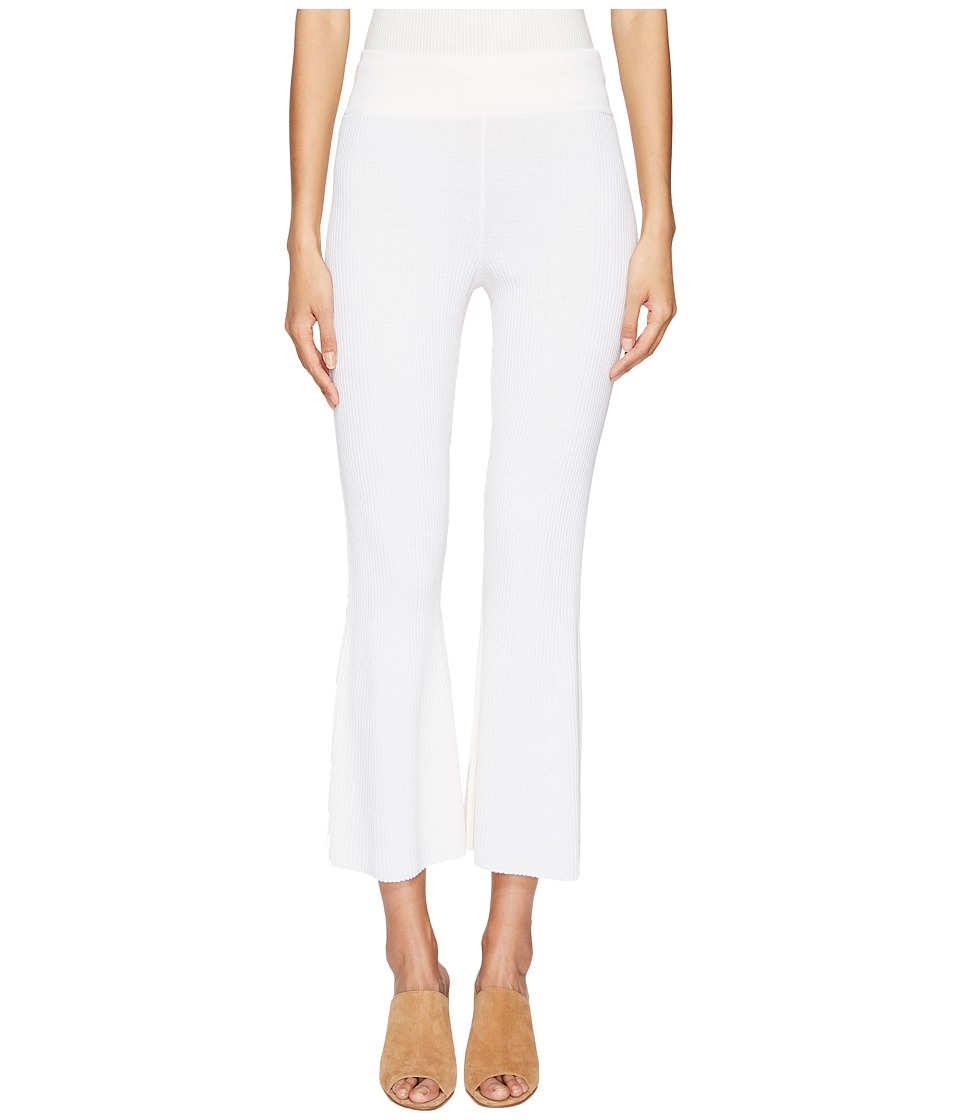 Cashmere In Love - Candiss Ribbed Knit Pants (Off-White) Women's Clothing