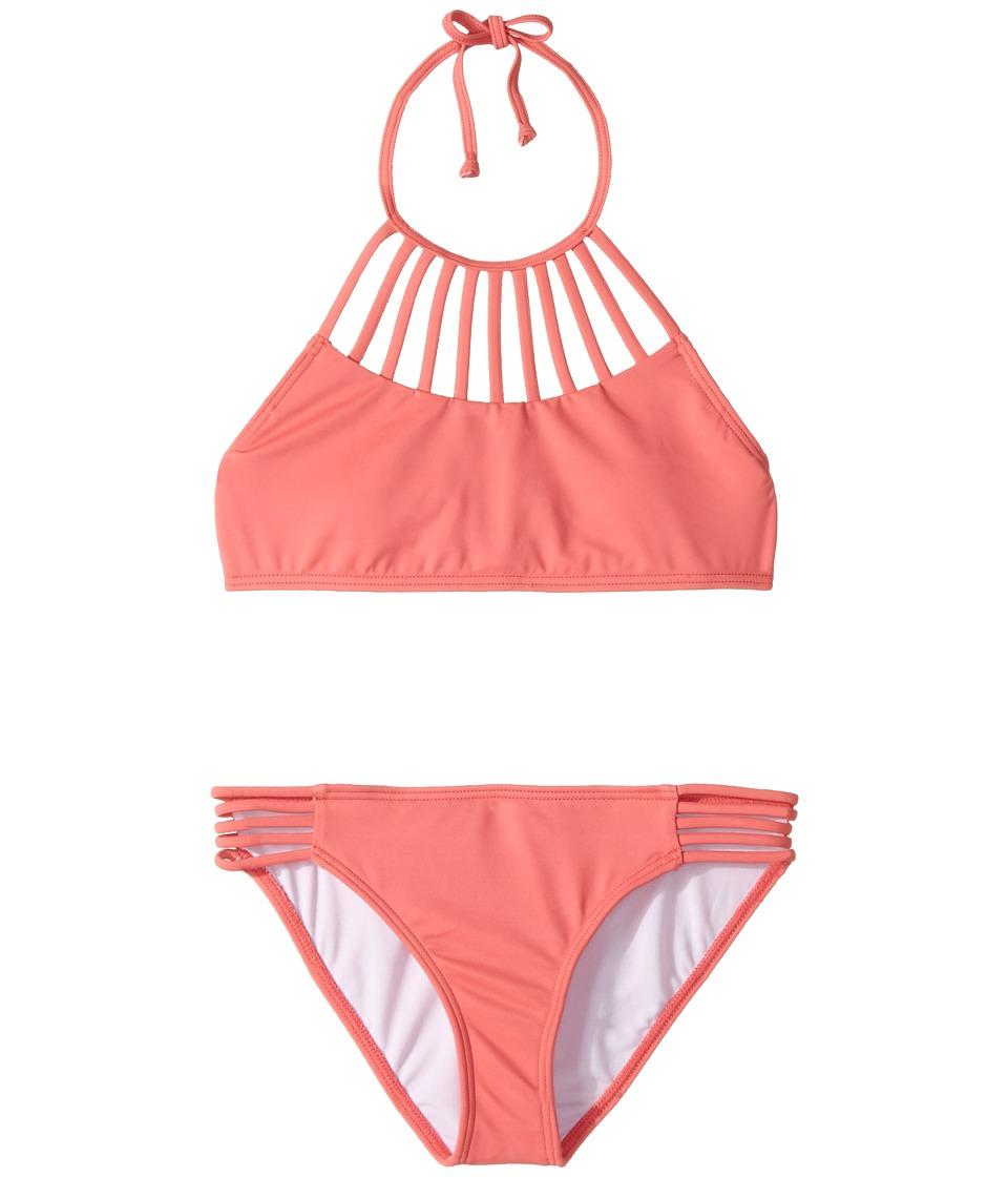 Billabong Kids Sol Searcher High Neck Set (Little Kids/Big Kids) (Paradise Pink) Girl