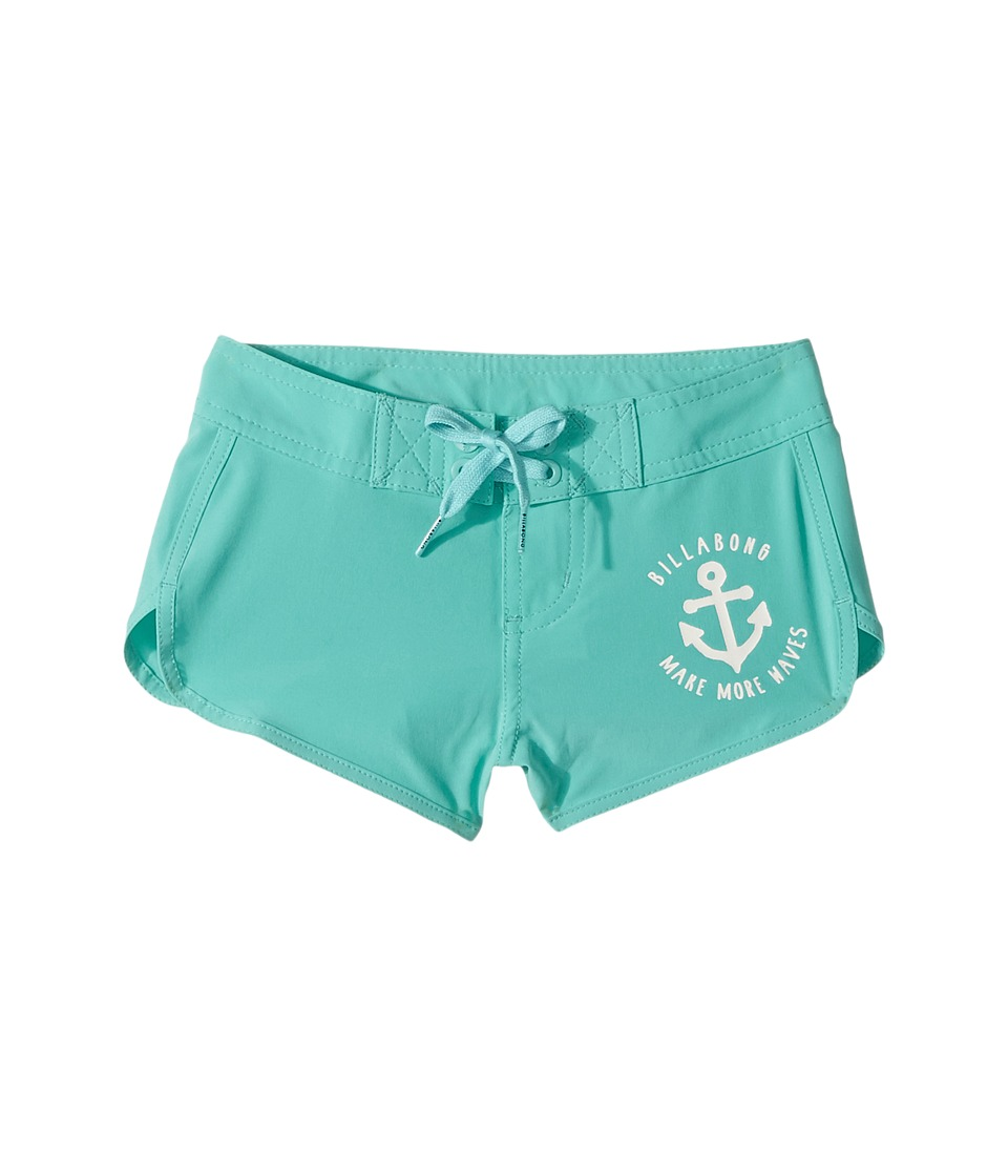 Billabong Kids Sol Searcher 2 Boardshorts (Little Kids/Big Kids) (Tiki Turquoise) Girl