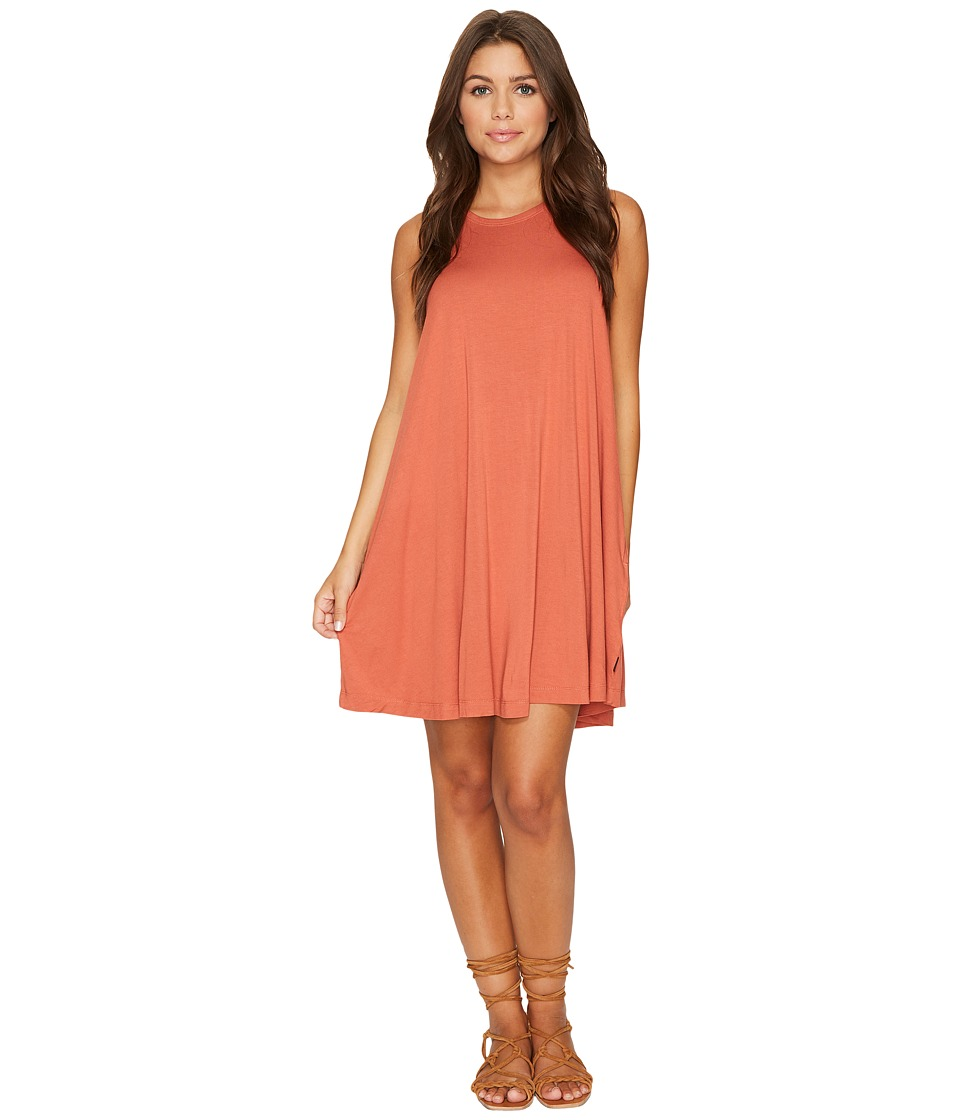 RVCA - Sucker Punch 2 Dress (Dusty Rose) Women's Dress