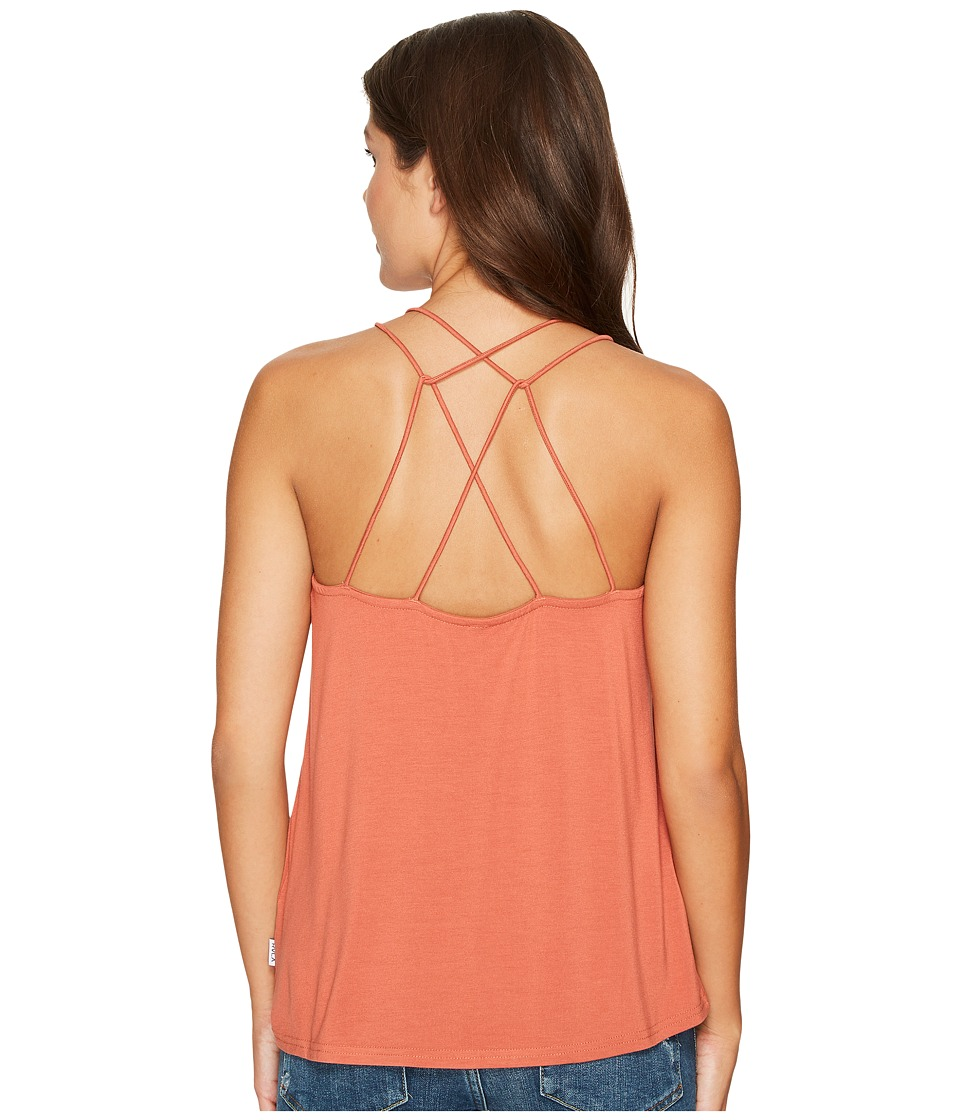 RVCA - Strappy AF Tank Top (Dusty Rose) Women's Clothing