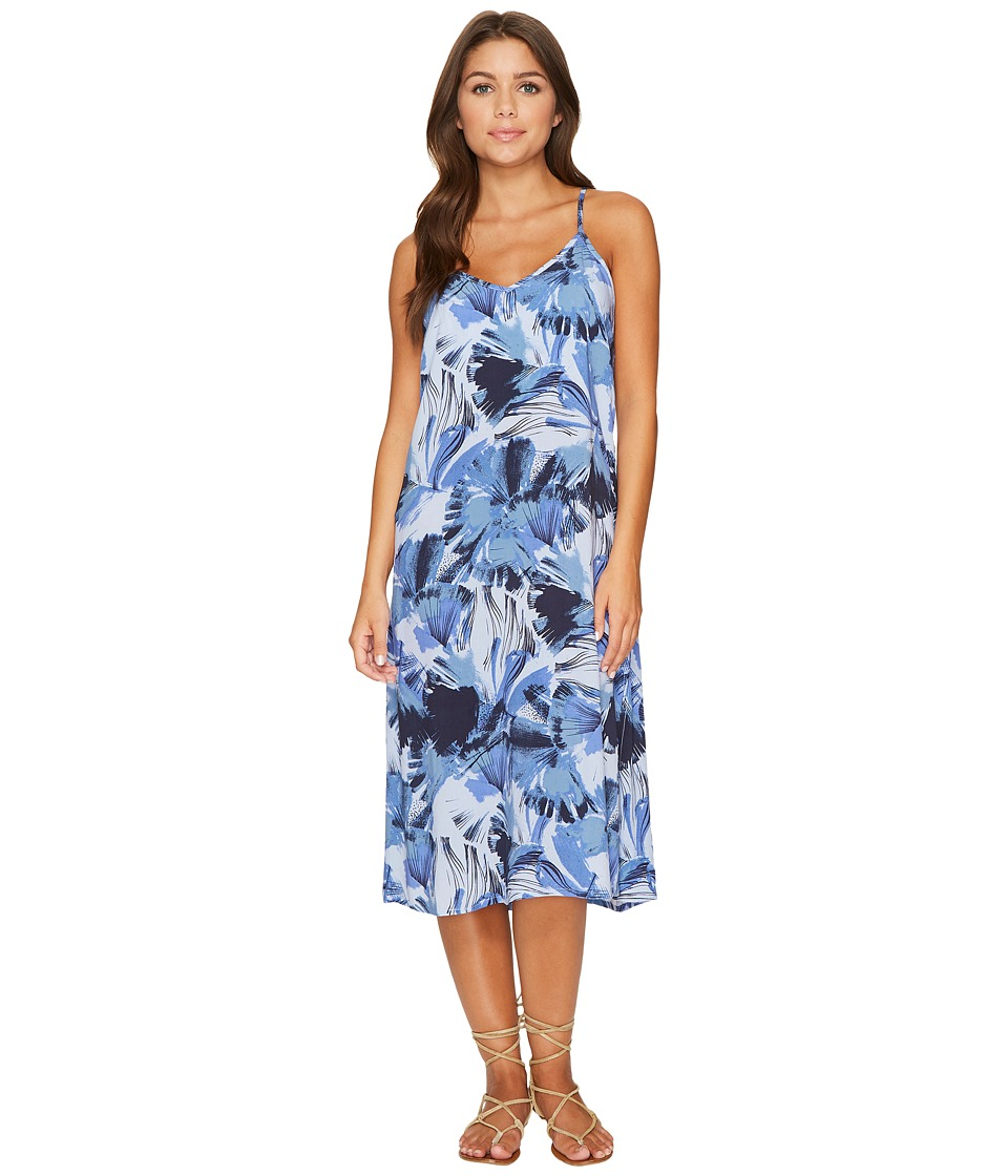 RVCA - Chasing Shadows Floral Midi Dress (Horizon) Women's Dress