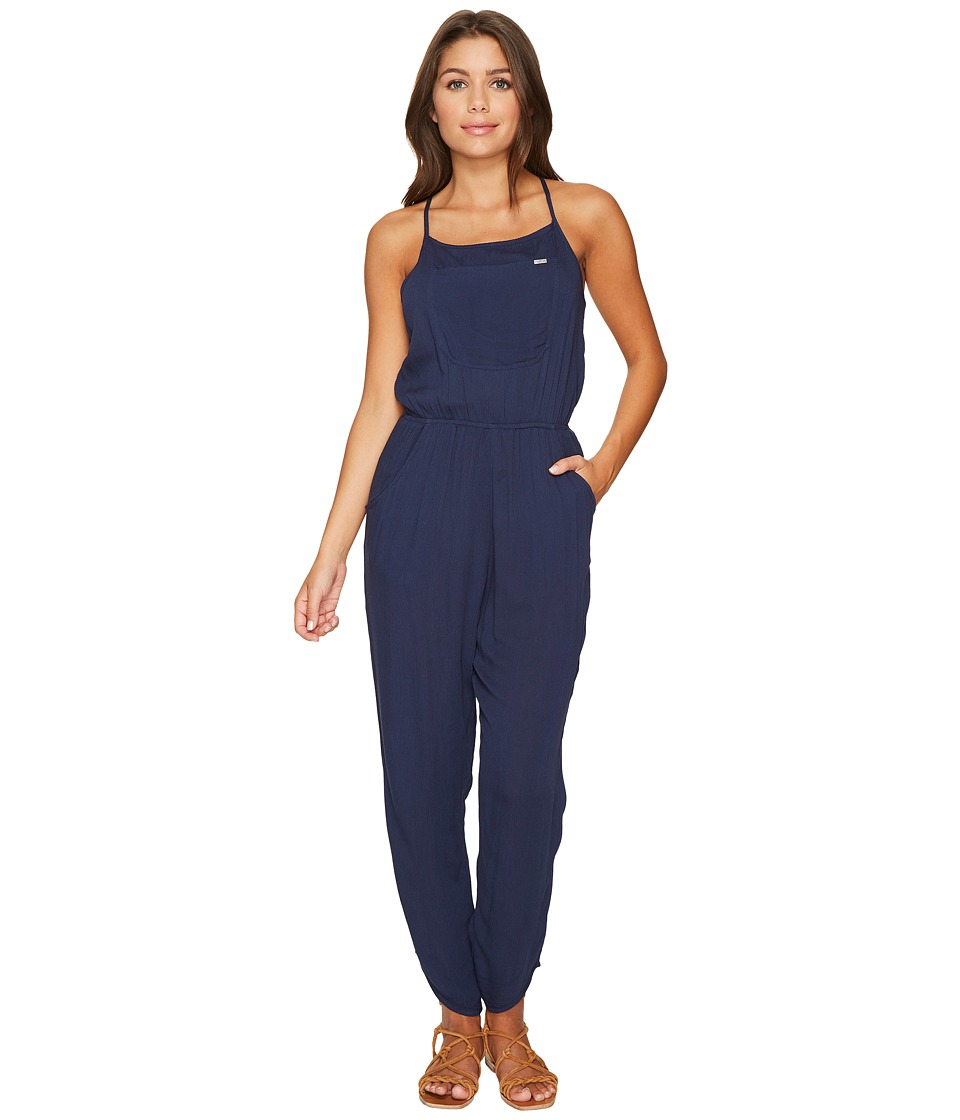 RVCA - Tracter Jumpsuit (Federal Blue) Women's Jumpsuit & Rompers One Piece