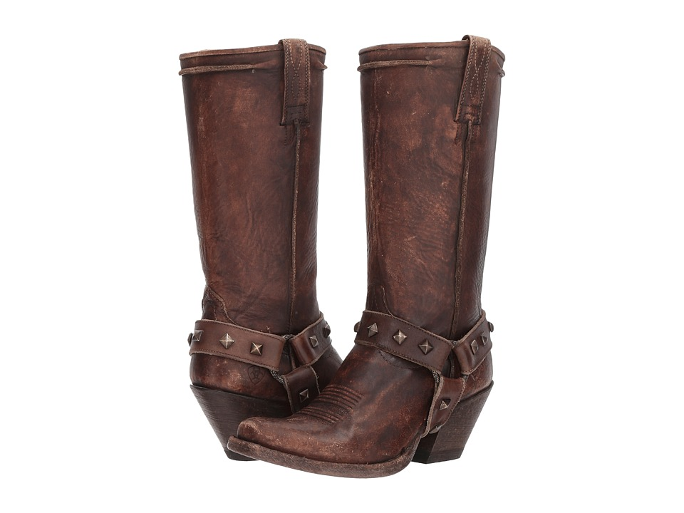Ariat Rowan Harness (Naturally Distressed Brown) Cowboy Boots