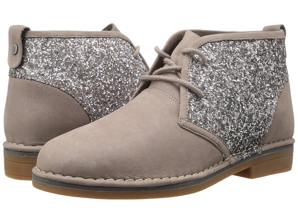 Hush Puppies Cam Catelyn (Dark Taupe Glitter Nubuck) Women