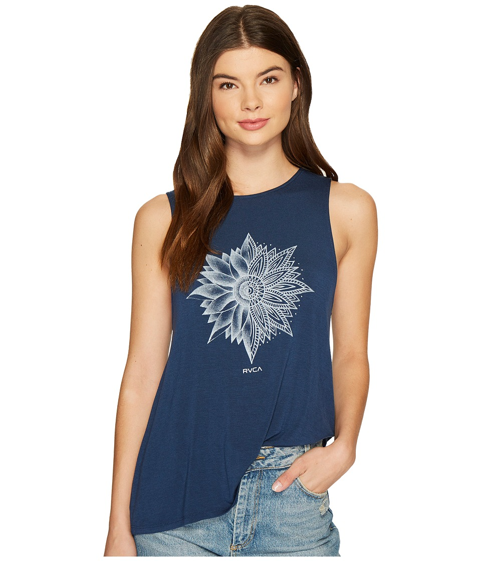 RVCA - Petals Top (Federal Blue) Women's Clothing