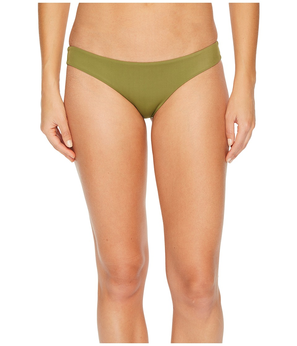 RVCA Solid Cheeky Bottom (Olive) Women