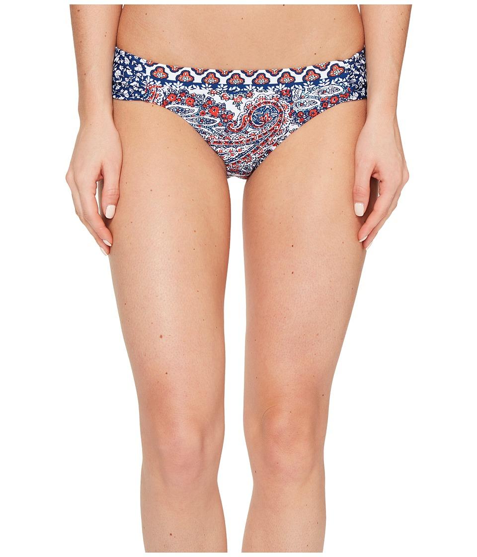 Lucky Brand - Hailey Paisley Side Sash Hipster Bottom (Multi) Women's Swimwear