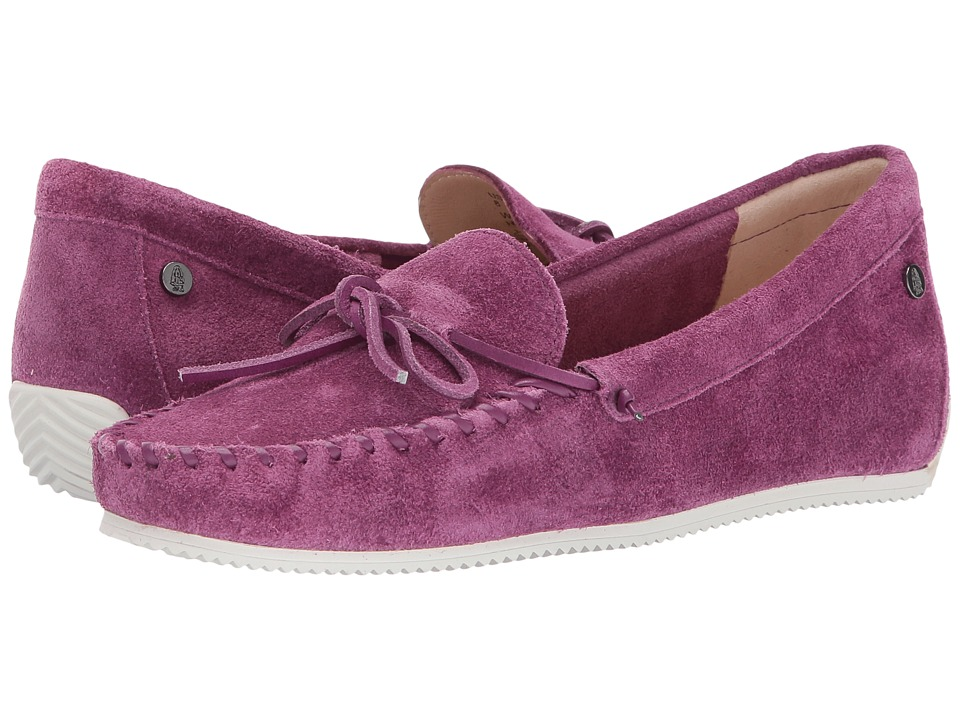 Hush Puppies - Larghetto Carine (Dark Fuchsia Suede) Women's Moccasin Shoes