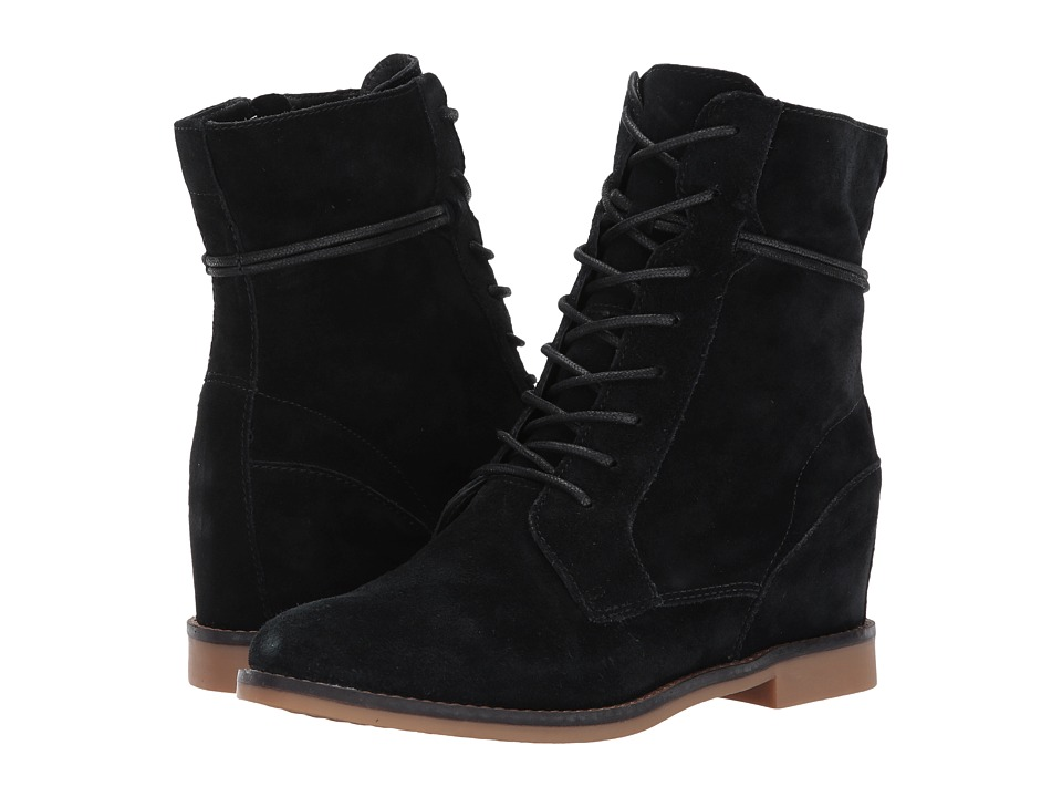 Hush Puppies Bab Felise (Black Suede) Women
