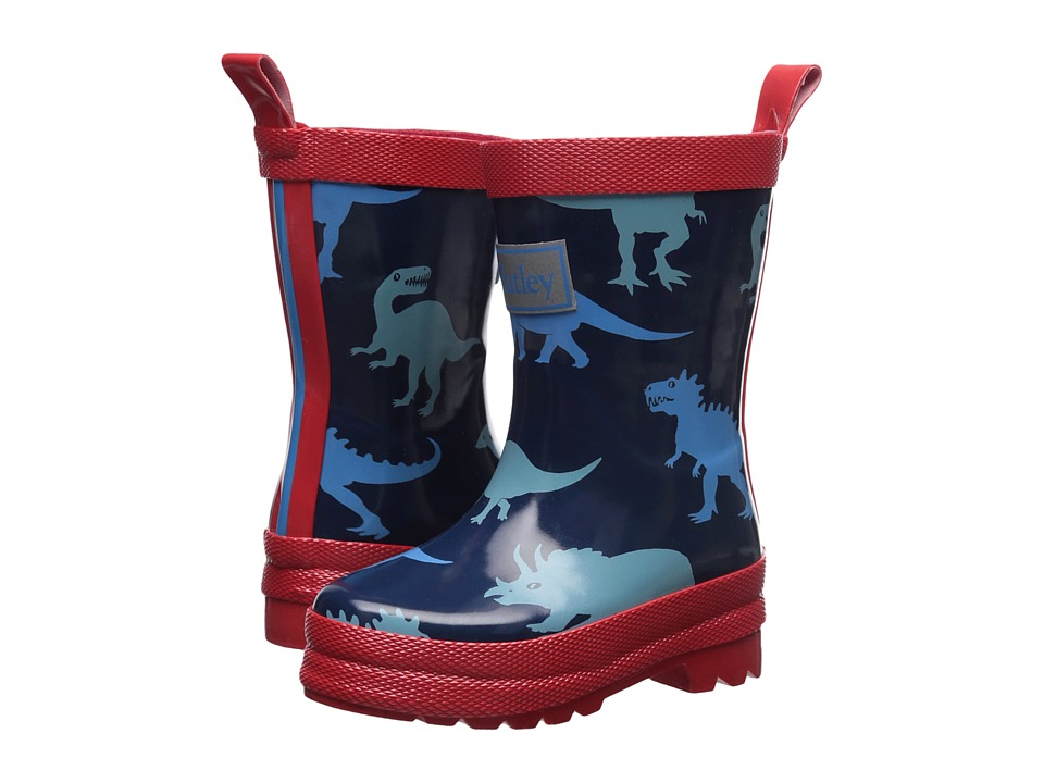 Hatley Kids Lots of Dinos Rain Boots (Toddler/Little Kid) (Blue) Boys Shoes