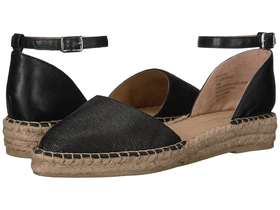 White Mountain - Cave In (Black Fabric) Women's Shoes
