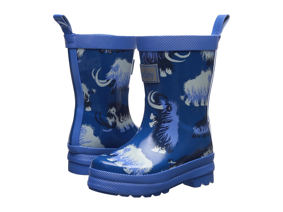 Hatley Kids Woolly Mammoth Rain Boots (Toddler/Little Kid) (Blue) Boys Shoes