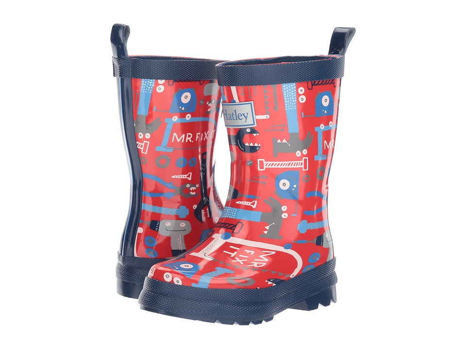 Hatley Kids Lots of Tools Rain Boots (Toddler/Little Kid) (Red) Boys Shoes