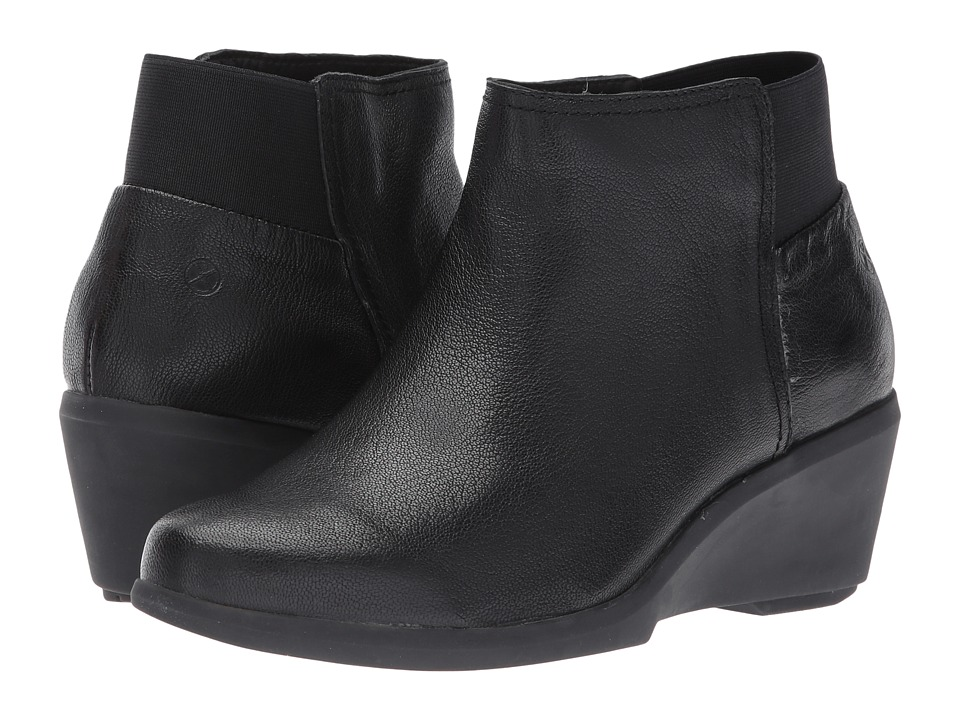 Hush Puppies Francine Mariya (Black Leather) Women