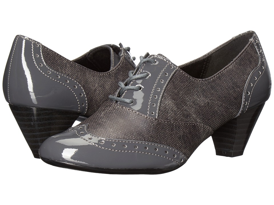 Soft Style Gianna (Dark Grey Faux Tweed/Patent) High Heels