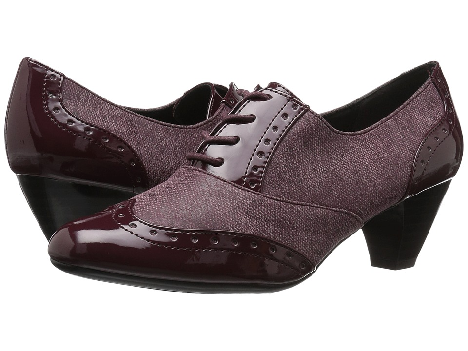 Soft Style Gianna (Bordeaux Faux Tweed/Patent) High Heels