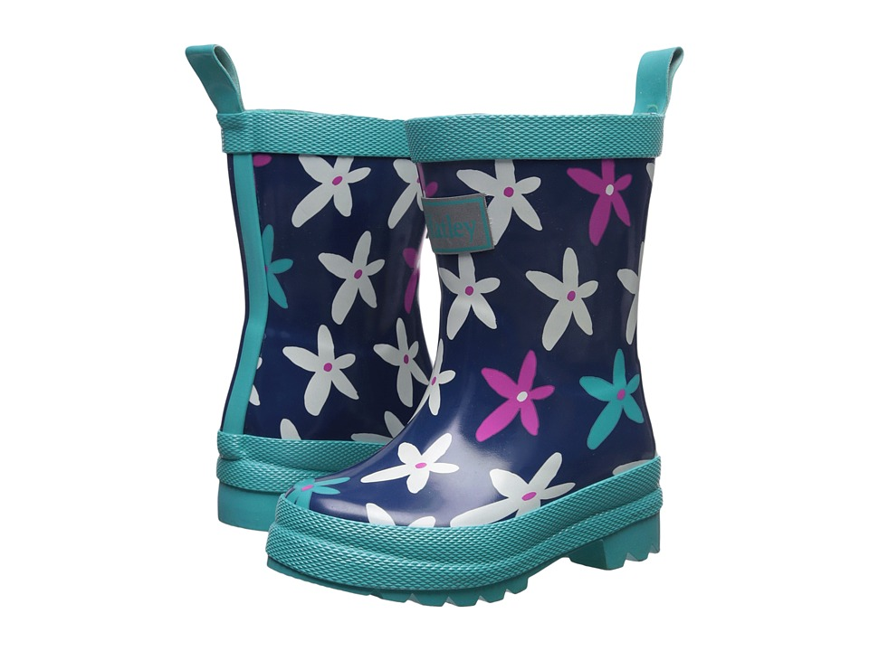 Hatley Kids Graphic Flowers Rain Boots (Toddler/Little Kid) (Purple) Girls Shoes