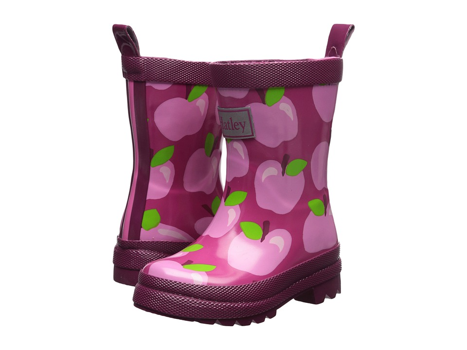 Hatley Kids Apple Orchard Rain Boots (Toddler/Little Kid) (Pink) Girls Shoes