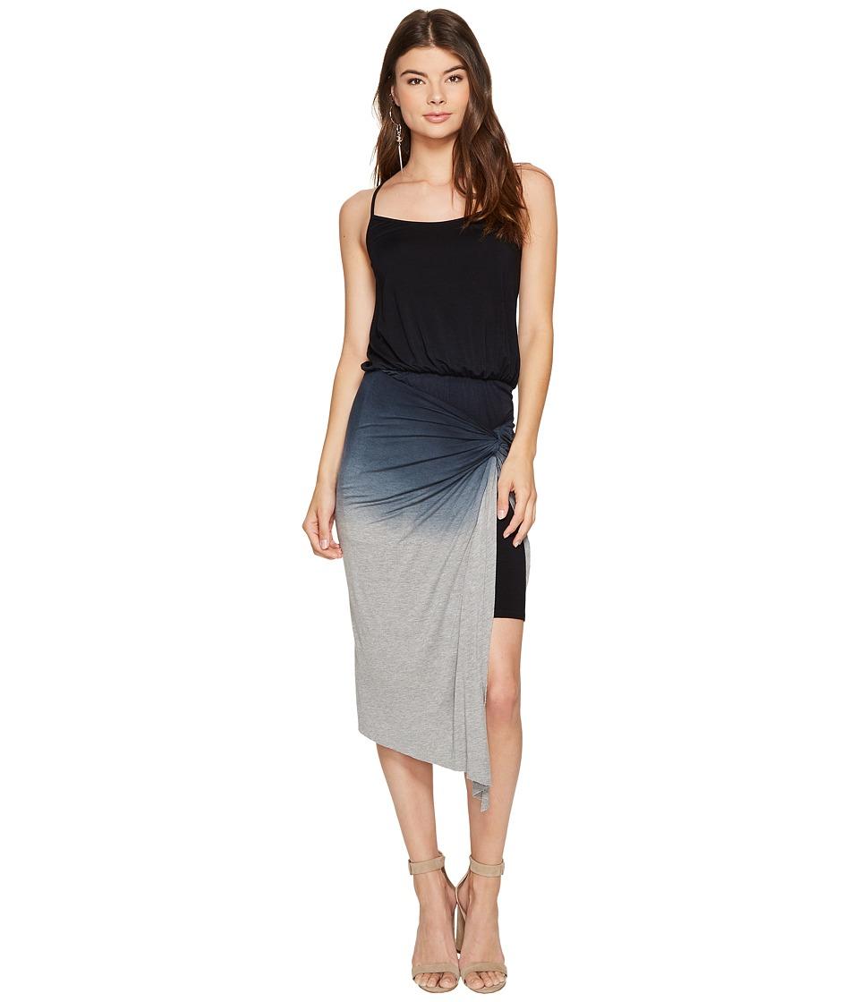 kensie Viscose Knotted Wrap Dress KS7K7584 (Black Combo) Women