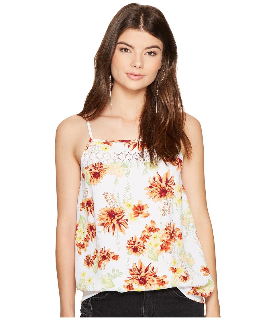 kensie - Botanical Floral Top KS7K4095 (White Combo) Women's Clothing