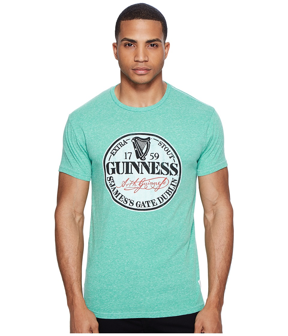 The Original Retro Brand - Short Sleeve Tri-Blend Guinness Tee (Streaky Sprite) Men's T Shirt