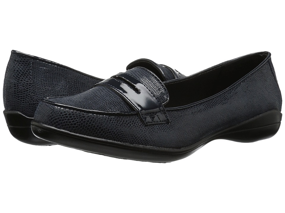 Soft Style Daly (Navy Lizard/Patent) Women