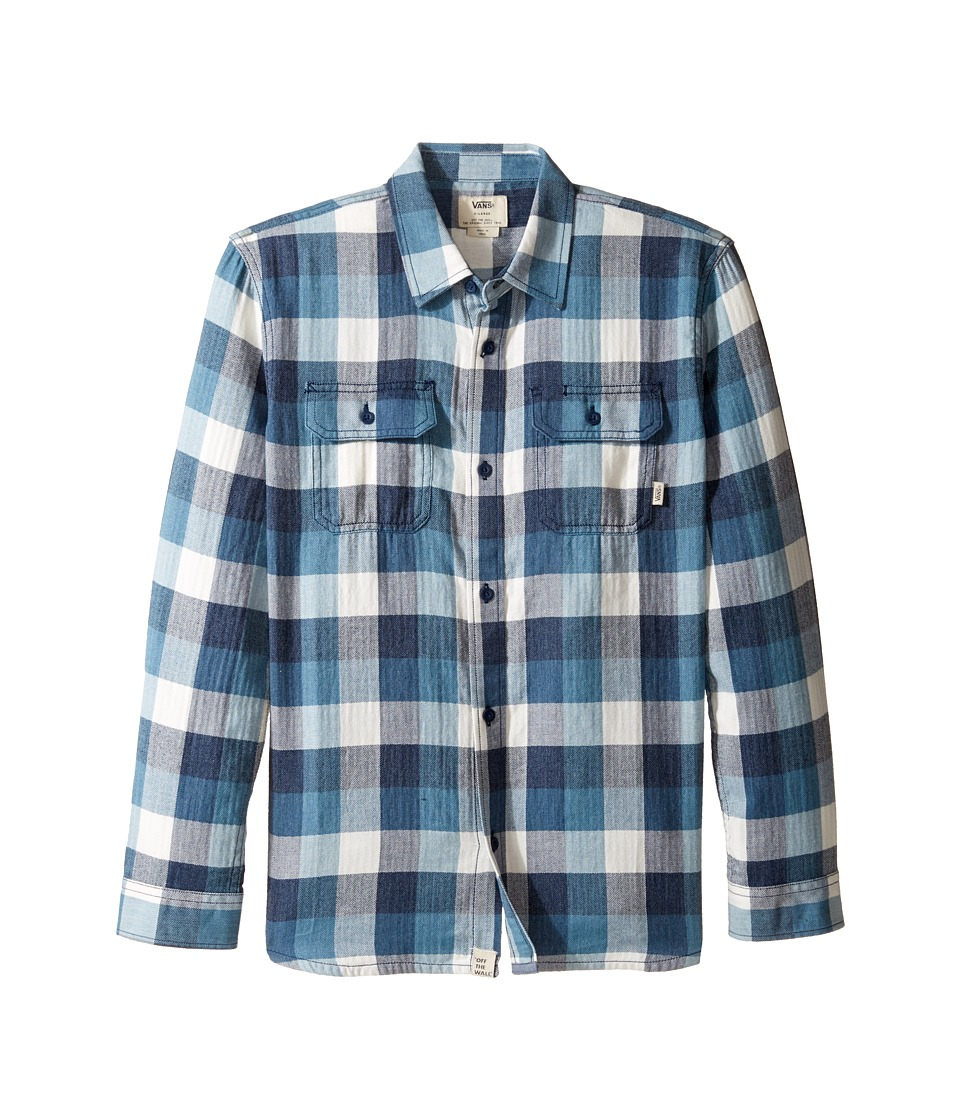 Vans Kids - Alameda Flannel Shirt (Big Kids) (Dress Blues/Blue Ashes) Boy's Long Sleeve Pullover