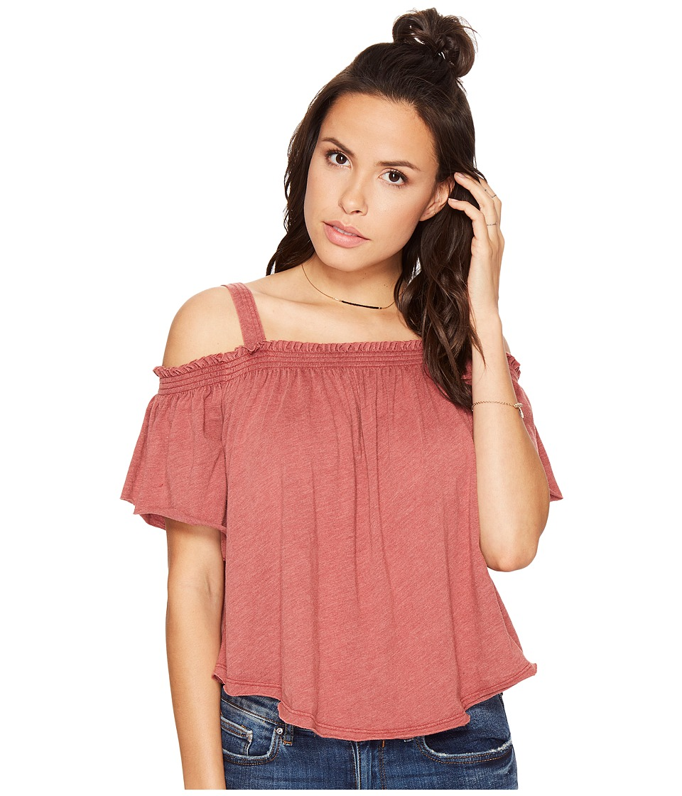 Free People - Darling Top (Bright Red) Women's Clothing