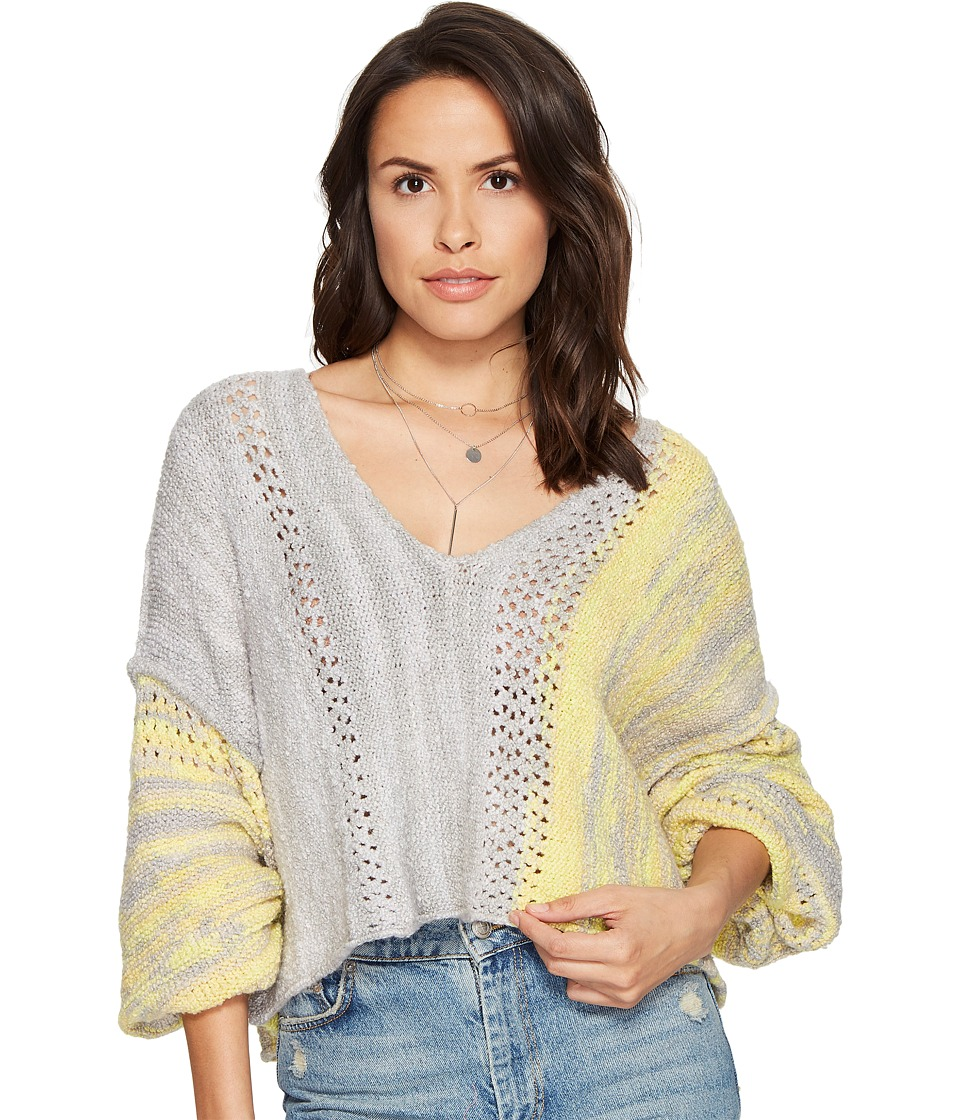 Free People - Amethyst Sweater (Grey) Women's Sweater