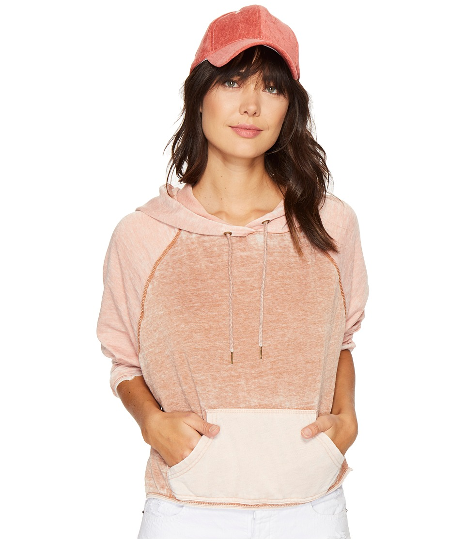 Free People - Tricolor Hoodie (Neutral Combo) Women's Sweatshirt