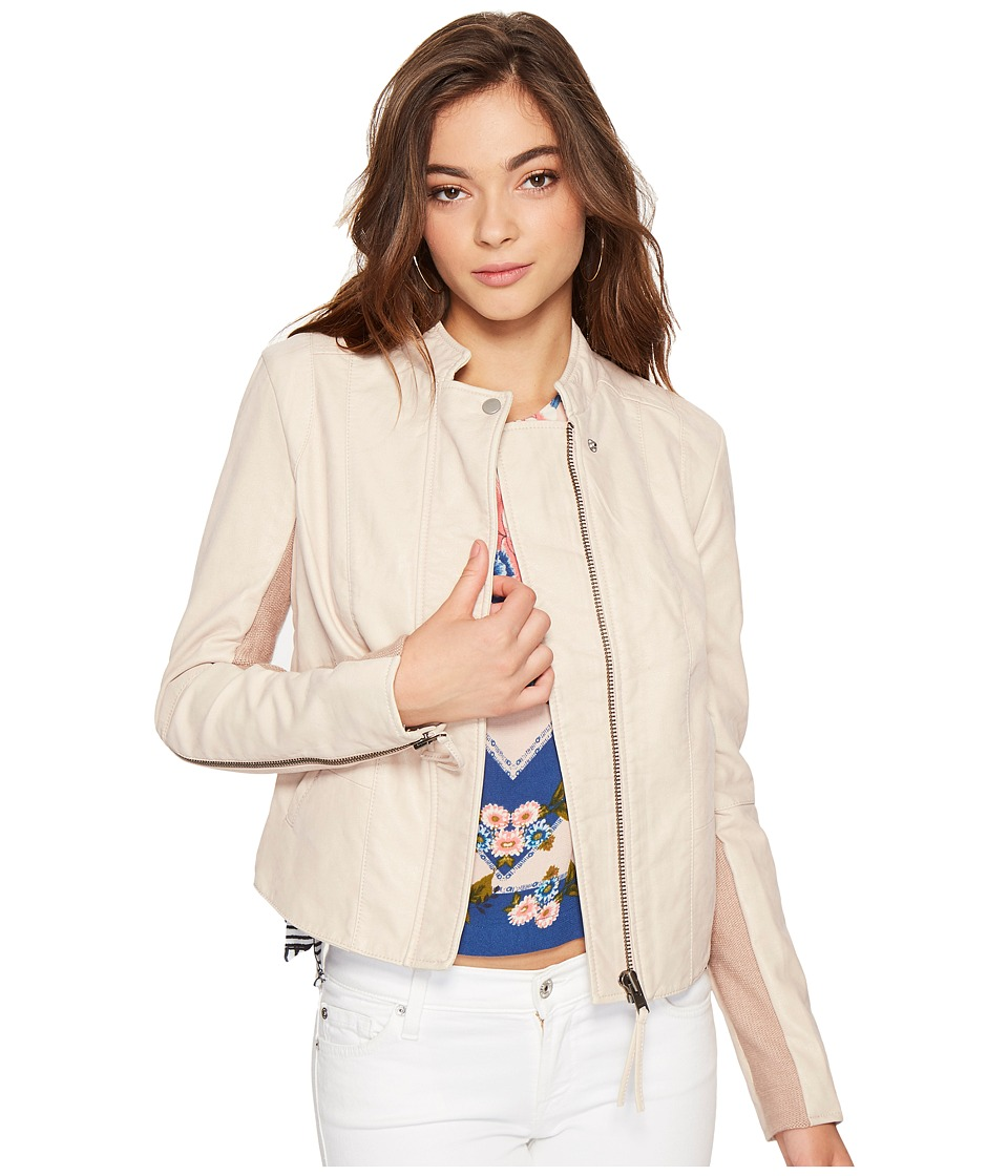 Free People - Cool Clean Faux Suede Jacket (Rose) Women's Coat